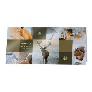 Carte de vœux ambiance hivernale