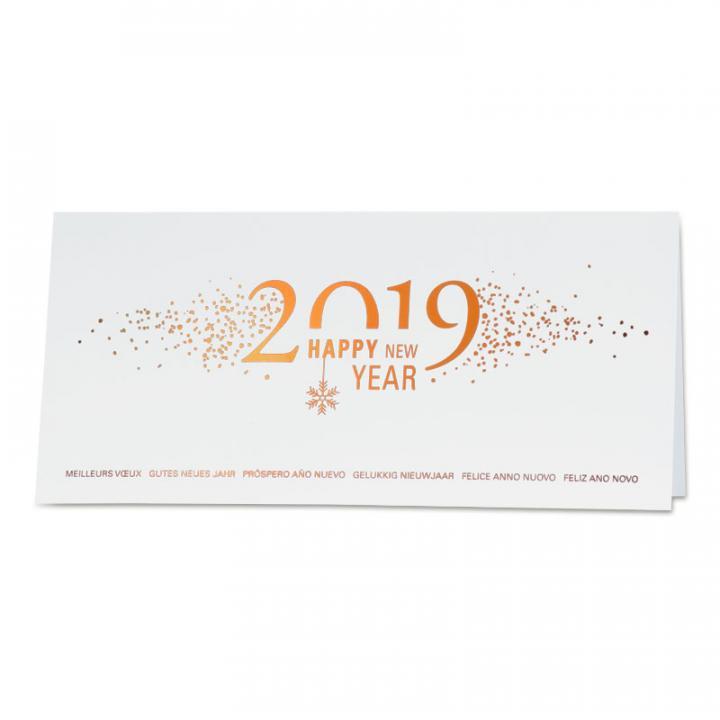 0625bb259e2dc6 Carte de voeux entreprise 2019 cuivré | Cartes pour la vie