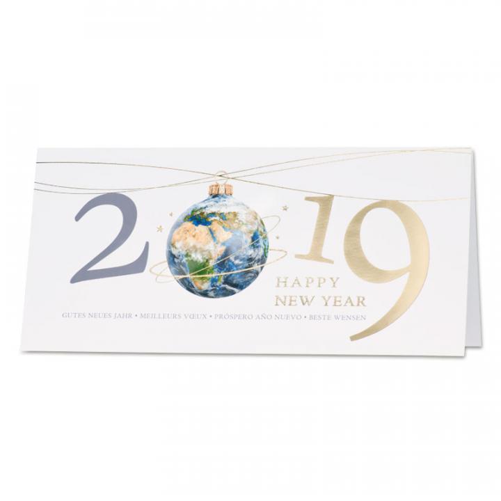 542a1041cbc938 Carte de voeux entreprise avec boule de Noël 2019 | Cartes pour la vie