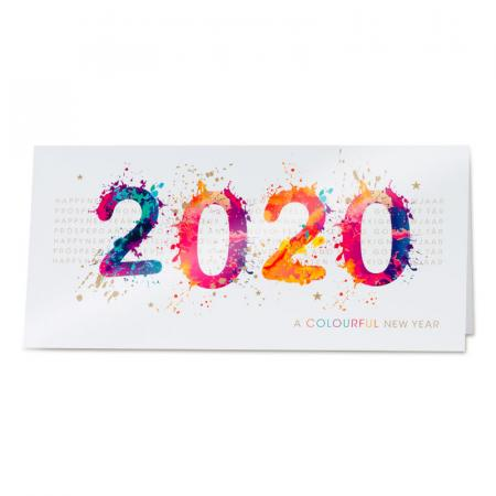 "Carte ""colourful New Year"""