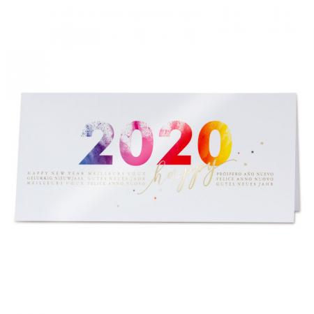 "Carte ""Happy 2020"""