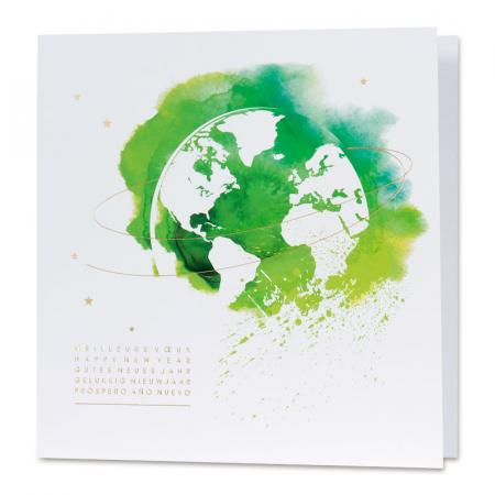 Carte mappemonde aquarelle