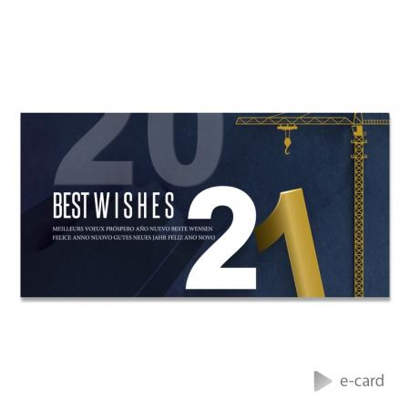 E-card Best Wishes industriel