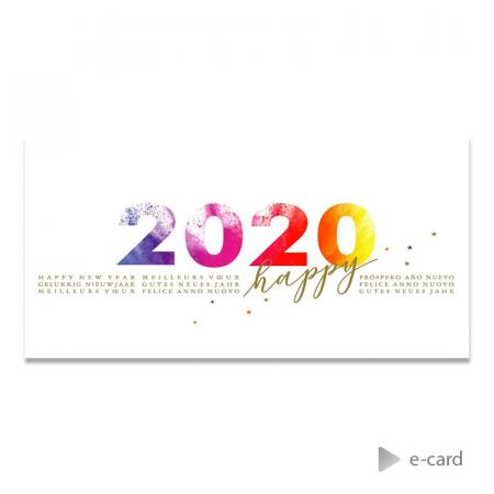 "E-card ""Happy 2020"""